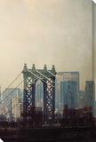 New York II Reproduction transférée sur toile par Irene Suchocki