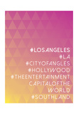 Hashtag City Los Angeles Poster
