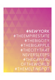 Hashtag City New York Posters