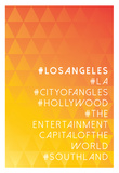 Hashtag City Los Angeles Posters