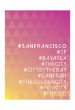 Hashtag City San Francisco Posters