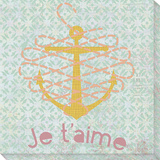 Je t'Aime Stretched Canvas Print