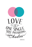 Love Is One Single Soul Inhabiting Two Bodies Photo