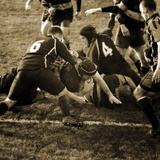 Rugby Game III Impression giclée par Pete Kelly