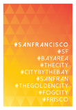 Hashtag City San Francisco Prints