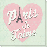 Paris Je t'Aime Stretched Canvas Print