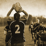Rugby Game I Impression giclée par Pete Kelly