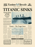 Titanic Sinks Prints by  The Vintage Collection