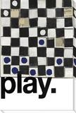 Chessboard Play Reproduction transférée sur toile par  KOCO