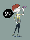 What's up Giclee Print by Laure Girardin-Vissian