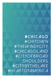 Hashtag City Chicago Print