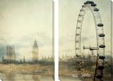Collage van Londen Kunst van Irene Suchocki