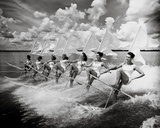 Water Ski Parade Giclee Print by  The Chelsea Collection
