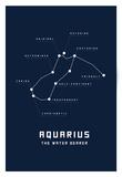Astrology Chart Aquarius Affiches