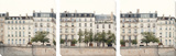 Apartments in Paris along the Seine Affiches par Irene Suchocki