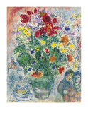Grand Bouquet de Renoncules, 1968 Collectable Print by Marc Chagall