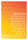 Hashtag City Boston Posters