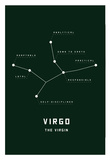 Astrology Chart Virgo Posters