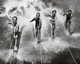 Water Ski Splash Digitálně vytištěná reprodukce