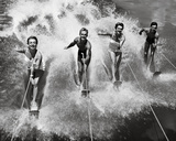 Water Ski Splash Giclee Print by  The Chelsea Collection