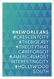 Hashtag City New Orleans Posters