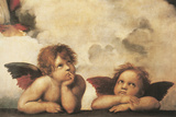 Engle Giclée-tryk af Raphael