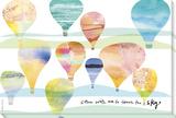 Maria Carluccio - Touch the Sky Balloons - Şasili Gerilmiş Tuvale Reprodüksiyon