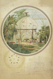 Aviary in a Winter Garden Giclee Print by Adrien Chancel