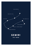 Astrology Chart Gemini Affiches
