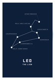 Astrology Chart Leo Affiches