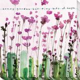 Bits of Hope Flowers Reproduction transférée sur toile par Maria Carluccio