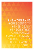 Hashtag City New Orleans Print