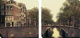 Sepia – Fotografie einer Brücke Kunstdruck von Irene Suchocki