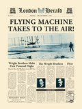 Flying Machine takes to the Air! Prints by  The Vintage Collection