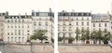 Apartments in Paris along the Seine Poster von Irene Suchocki