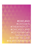 Hashtag City Chicago Posters