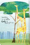 Help is Everything Giraffes Płótno naciągnięte na blejtram - reprodukcja autor Maria Carluccio