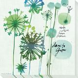 Dare to Grow Dandelions Reproduction transférée sur toile par Maria Carluccio