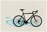 Road Bike Pop Art Posters