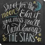 Shoot for the Moon Płótno naciągnięte na blejtram - reprodukcja autor Valerie McKeehan