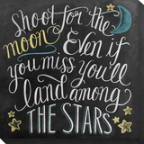 Shoot for the Moon Leinwand von Valerie McKeehan