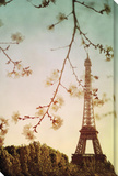 Paris in the Springtime Stretched Canvas Print by Irene Suchocki