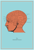 Phrenology Chart Prints