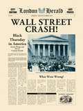 Wall Street Crash! Art by  The Vintage Collection