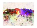 Edinburgh Skyline in Watercolor Background Prints by  paulrommer