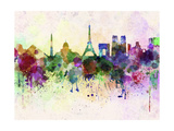 Paris Skyline in Watercolor Background Posters by  paulrommer