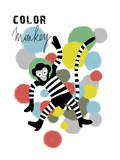 Color Monkey Giclee Print by Laure Girardin-Vissian