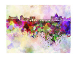Rome Skyline in Watercolor Background Art by  paulrommer