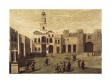 San Juan De Dios Square and Town Halls in Cadiz in 1596 Poster by J. Garcia