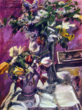 Lilac and Tulips Posters by Lovis Corinth